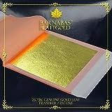 Pan de Oro Auténtico Transferible 23.75 kt, 85 X 85mm, Librillo de 25 Hojas