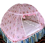 #10: Healthy Sleeping Foldable Polyester Double Bed Mosquito Net (Light Pink)
