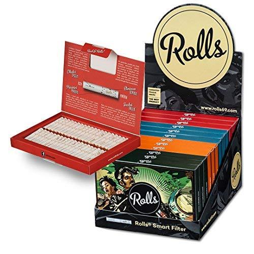Rolls Smart Filter Tips - 960 Stück (5mm Slim) 12x VIP Pack XL (Display) I Rolls69 Vorteilspack I Eindrehfilter mit Kühlsystem - Spezial Filter Keine Aktivkohle - fertig vorgerollter Filtertip -