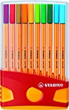 STABILO point 88 - Rotulador punta fina - Estuche premium Colorparade con 20 colores