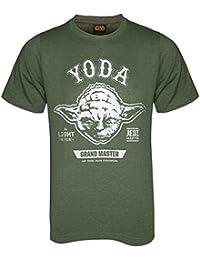 Star Wars Das Erwachen der Macht - Herren T-Shirt mit Darth Vader- & Yoda-Motiv - Offizielles Merchandise