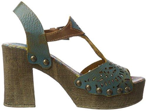 Bunker Soul, Zapatos De Tacón Alto Para Mujer Con Correa Azul (azul Marino)