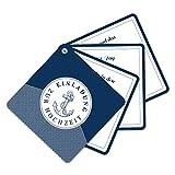 60 x Fächerkarten Hochzeitseinladungen individuell mit Ihrem Inhalt - Maritim