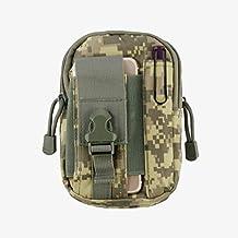 Resistente tela sport attività marsupio tasca cintura per Alcatel A7XL/Idol 4S/Plus 12/OneTouch Idol 3/4/5/Fierce/GO/Idol x in/A7/Quickflip (ACU) + Mnd mini stilo