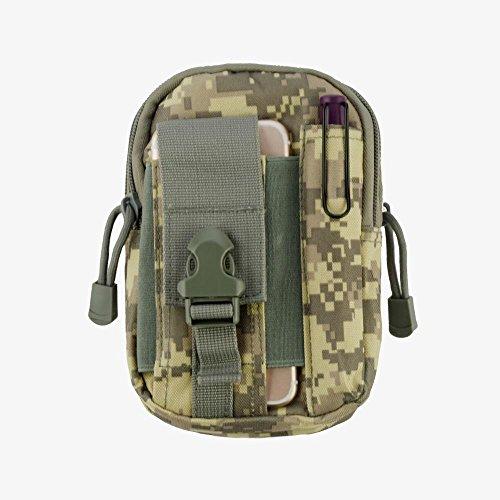 Heavy Duty Leinwand Sports Activity Waist Pack Pocket Belt für Sharp Aquos Xx, Z3, Crystal 2, kristall, MS1(ACU) + MND Mini Stylus (Sharp Handy Aquos Crystal)
