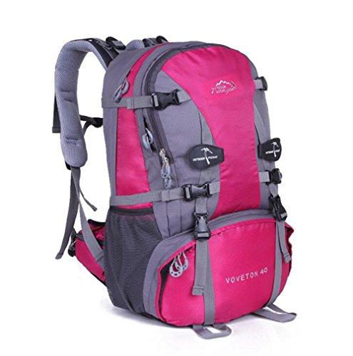 Wmshpeds Multi-funzionale spalla maschio femmina borsa zaino escursionismo outdoor borsa da viaggio 40L di grande capacità sacco da campeggio B