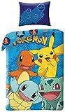 Pokémon Parure de lit Parure de lit pour Enfant avec Housse de Couette 140x...