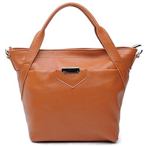 Chlln Das Neue Leder Handtasche Umhängetasche Messenger Laptop - Tasche Brown