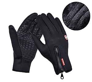 Guanti invernali caldi, CuOmix® Guanti Corsa Antivento Esterna Bicicletta Caccia Arrampicata Sportiva Touchscreen (XXL)