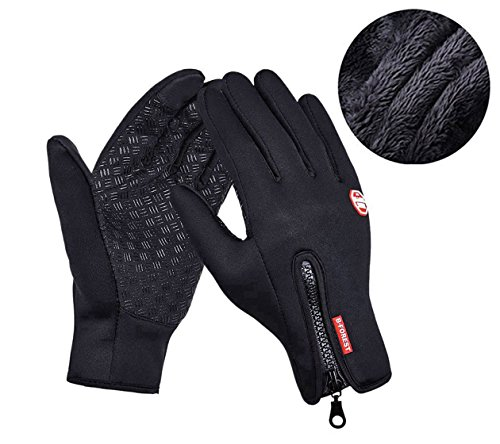 Warm Thick Lined Touch Screen Gloves, CuOmix® Winter Cold Weather Windproof Gloves Cycling Gloves for Men & Women, Updated Version