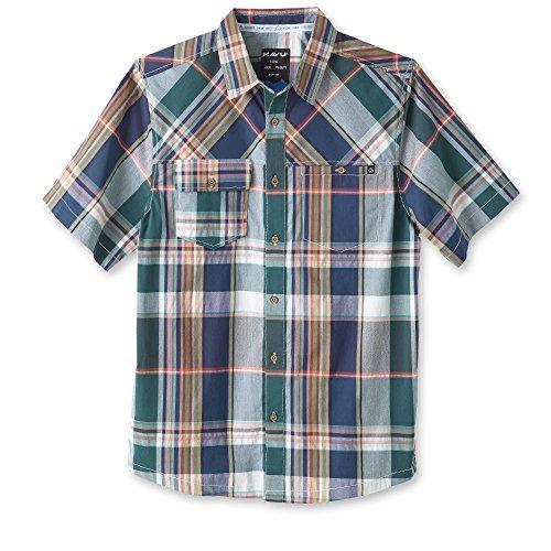 KAVU Herren Boardwalk Button-Down-Shirts, Herren, Spring Break, XX-Large -