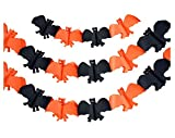 Set of 5 Halloween Paper Garland Decorations Halloween Banners (Bat)