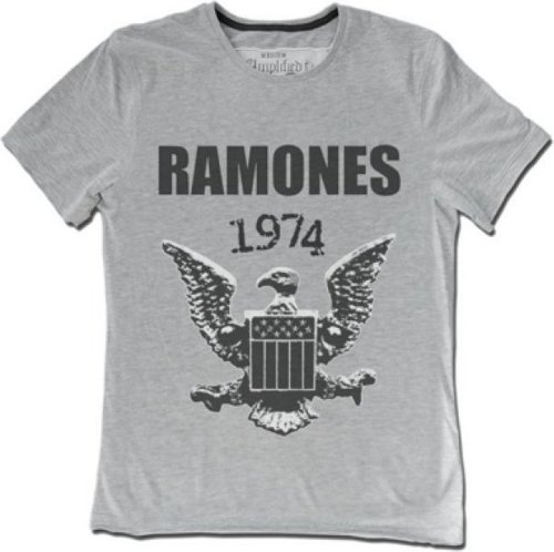 Amplified - Herren Boys Rock Band T-Shirt Ramones 74 Grau (S-XL) (S) Pinhead Cap