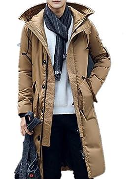 Larga capa de los hombres espesa la chaqueta abajo , khaki , l
