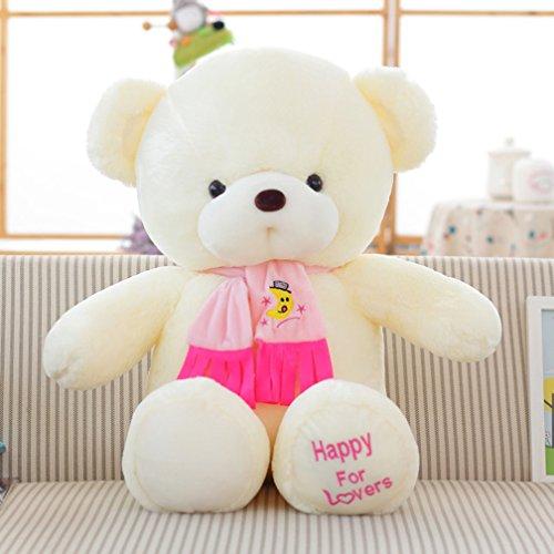 VERCART 80CM XXL Rosa Riesen-gefüllter tierischer Teddybär mit Fliege und Strickjacke Plüsch-weiche Puppen - Rosa Seide Strickjacke