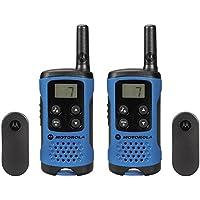 Motorola TLKR T41 - Walkie-Talkie con alcance de 4 km y 8 canales, color azul