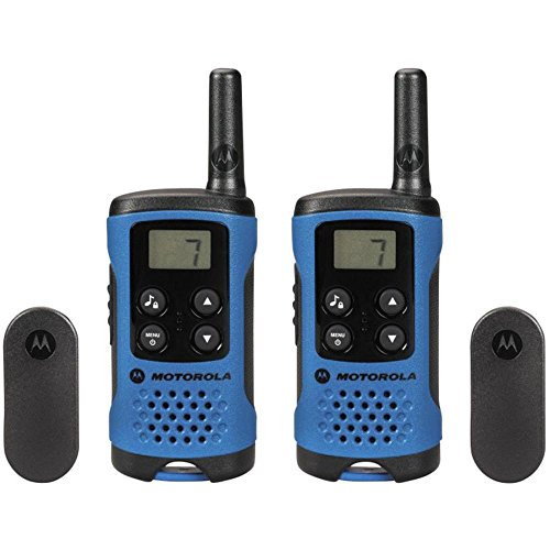 Foto de Motorola TLKR T41 - Walkie-Talkie con alcance de 4 km y 8 canales, color azul