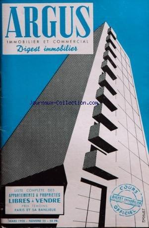 ARGUS IMMOBILIER ET COMMERCIAL (L') [No 55] du 01/03/1958 par COLLECTIF