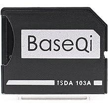 "baseqi aluminio adaptador de tarjeta microSD para MacBook Air de 13""y MacBook Pro de 13""/15(no Retina)"