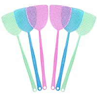 Winice Fly Swatter, 6Pcs Plastic Fly Swat Insect Mosquito Wasp, Multi-colors