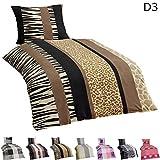 Dreamhome24 4 TLG Warme Microfaser Flausch Fleece Winter Bettwäsche 135x200 + 80x80 Winterbettwäsche Kissenbezug + GRATIS MF Putztuch, Design - Motiv:Design 3