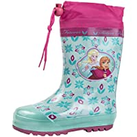 Disney Frozen Girls Tie Top Rubber Wellington Boots