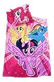MY LITTLEPONY Bettwäsche–Bettbezug wendbar 140x 200cm + Kopfkissenbezug 63x 63cm, Mikrofaser–Öko-Tex–My Little Pony–Mein kleines Pony