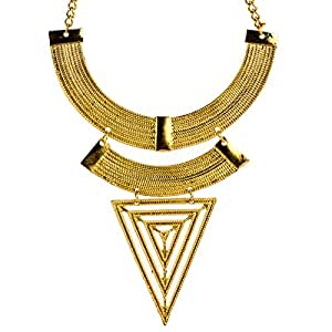 Egyptian Inspired Gold Necklace