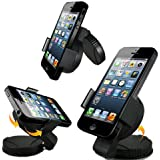 Image of A & M Universal In-Car Holder With Windscreen/Dashboard Mount for iPhone 4S/5/Samsung Galaxy S2/S3/S4/HTC One/Sony Xperia/Nokia/LG/GPS TomTom/Garmin (Import) - Comparsion Tool