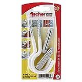 Fischer 052181 Spreizdübel HN K SB-Karte, Inhalt Dübel SX 10 x 50, 2 x Rundhaken 7 x 105 weiß, nylonbeschichtet