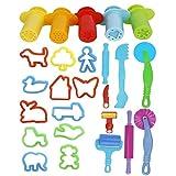 Kaimeng Werkzeuge für Spielknete, zufällige Farben, 25 Stück