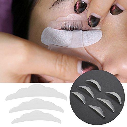 3 pares almohadillas protección silicona rizo Extensión