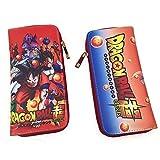 Twhoixi Anime Dragon Ball PU Long Wallet Cell Phone Clutch Purse Unisex Portable Purse with Zipper