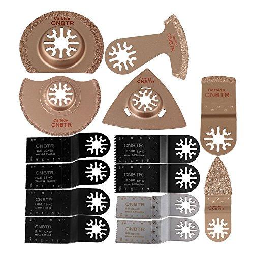 cnbtr Universal oszillierendes Sägeblatt Hartmetall Raspel Multi Tool Kit Home Verwenden Set von 14