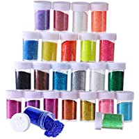 Glitzerpulver • Glitter • Pulver • Deko • Basteln • Glitzer • 10 Röhrchen