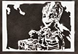moreno-mata Baby Groot Guardians of The Galaxy Handmade Street Art - Artwork - Poster