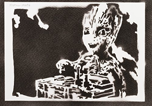 Baby Groot Guardians Of The Galaxy Handmade Street Art - Artwork - Poster