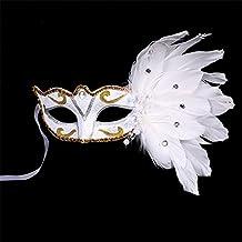 nacola Sexy Mujer veneciano mascarada máscara de ojos con plumas para Halloween de regalo