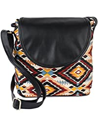 Hanso Collection Women's Multi Color Canvas Sling Bag (LBHBCP14ATO)