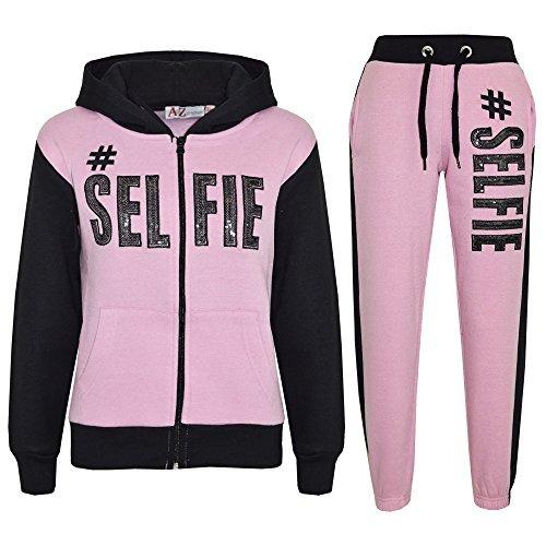 A2Z 4 Kids® Kinder Mädchen Jungen Designer - T.S #Selfie Baby Pink & Black 11-12