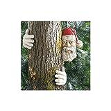 SEDAO Decorazione da Giardino–Babbo Natale per Albero in poliresina (2Mani + Testa)