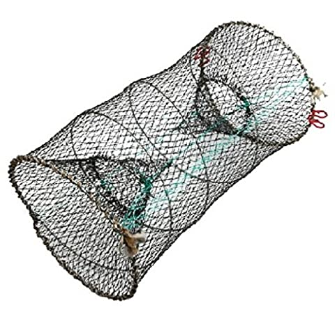 DELUXE CRAB LOBSTER SHIMP FISH CRAYFISH TRAP EEL NET FISHING POT CAGE FOLDING
