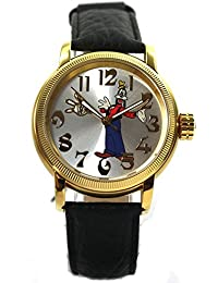 Disney Uhr Automatikuhr Goofy roségold silber Damenuhr Lederband Limited Edition