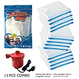 #8: Nice Life Space Saver Vacuum Storage Bags, Pack Of 13 Items [ 12 Bags (4M+4L+4Xl) With 1 Electric Pump]