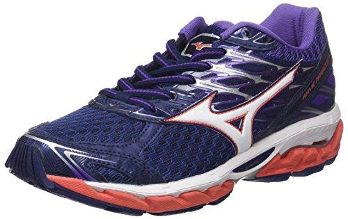 Mizuno Wave Paradox 4 Wos, Zapatillas de Running para Mujer, Multicolor (Patriotblue/White/Hotcoral 02), 39 EU