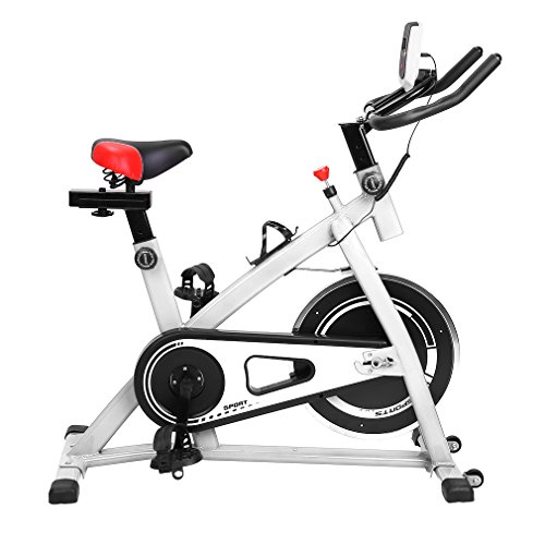 Sweepid Professionelles Indoor Training Indoor Cycling Bike Fitness-Bike Cardio-Bike Fahrrad-Trainer max bis 200 kg belastbar, Weiß