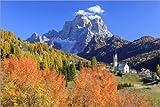 Poster 91 x 61 cm: Autumn Colors Monte Pelmo Dolomites Italy di Roberto Sysa Moiola - Stampa Artistica Professionale, Nuovo Poster Artistico