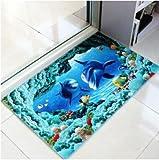 GRENSS Förderung 3D-Drucken Bad Teppich Eingang Fußmatte Wolldecke Anti-Slip rechteckige Schlafzimmer Küche Fußmatten Niedliche Tier Matten, wie Foto, 40 60 cm