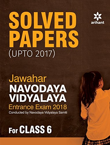 Jawahar Navodaya Vidyalaya Solved Papers 2018 for Class 6