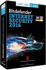Bitdefender Internet Security 2016 (3 postes, 2 ans)
